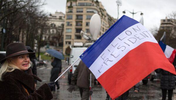 Митинг в поддержку Франсуа Фийона в Париже