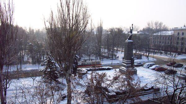 Вид на Кишинев из отеля Турист, Республика Молдова
