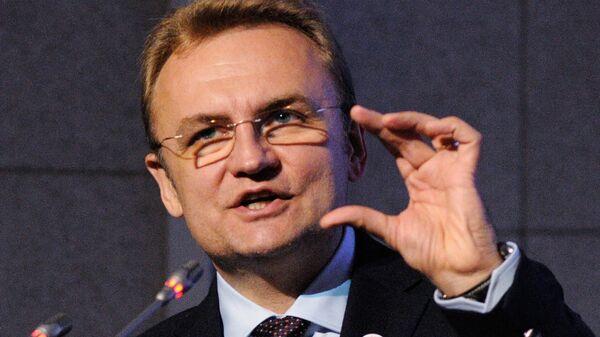 Лидер партии Самопомощь Андрей Садовой на презентации программы политической партии Самопомощь