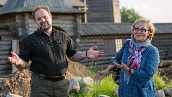 Министр природных ресурсов и экологии РФ Сергей Донской и директор  Кенозерского национального парка Елена Шатковская