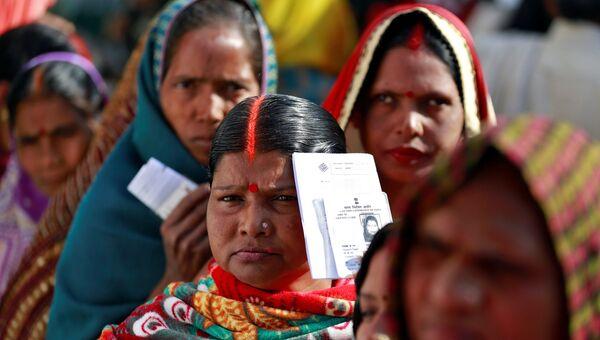 Голосование в индийском штате Уттар-Прадеш