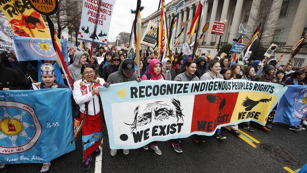Индейцы протестуют против строительства нефтепровода Dakota Access Pipeline. Архивное фото