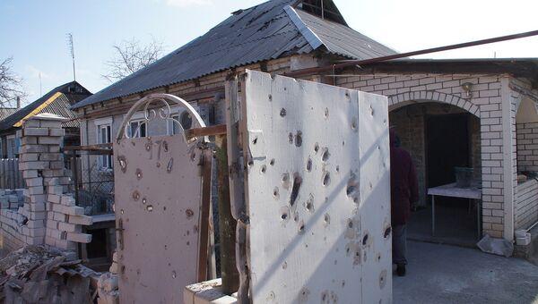 Обстрел жилого сектора города в ЛНР. Архивное фото