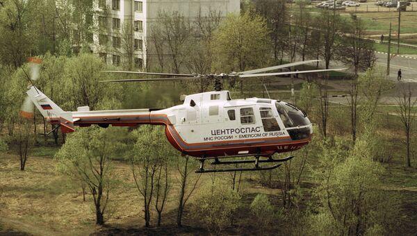 Вертолет скорой медицинской помощи Центроспаса МЧС РФ. Архивное фото