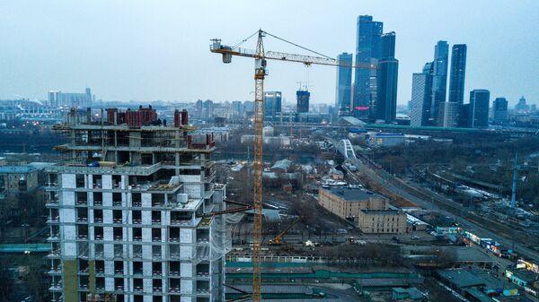 Строительство многоквартирного жилого дома в московском районе Фили.