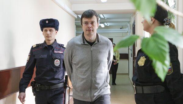 Рассмотрение ходатайства следствия о продлении срока ареста первого замглавы ГСУСК Москвы генерала Дениса Никандрова в Лефортовском суде