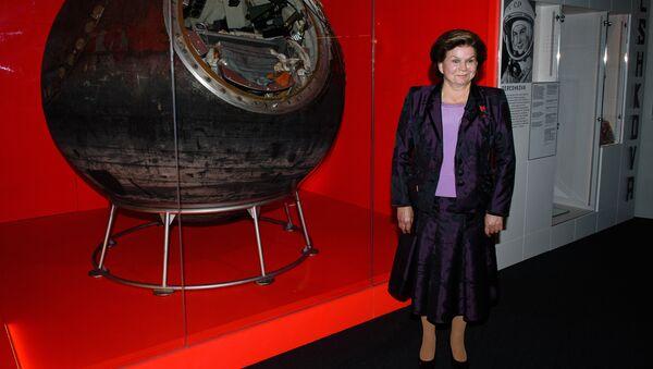Первая женщина-космонавт Валентина Терешкова в Музее науки в Лондоне. Архивное фото