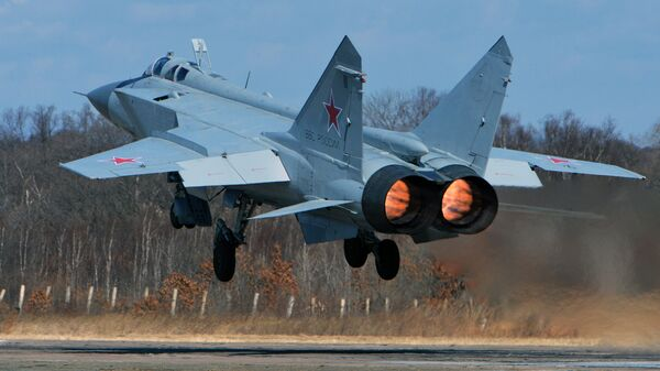 Сверхзвуковой всепогодный истребитель-перехватчик дальнего радиуса действия МиГ-31. Архивное фото