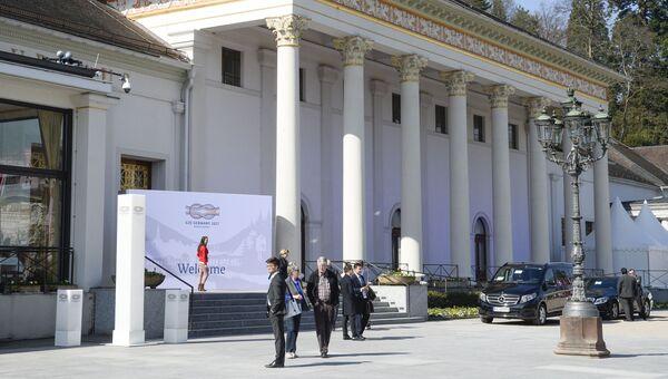 Подготовка к встрече министров финансов Большой двадцатки в Баден-Бадене, Германия. Архивное фото