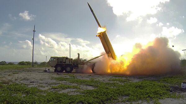 Запуск ракеты американского противоракетного комплекса системы THAAD. Архивное фото