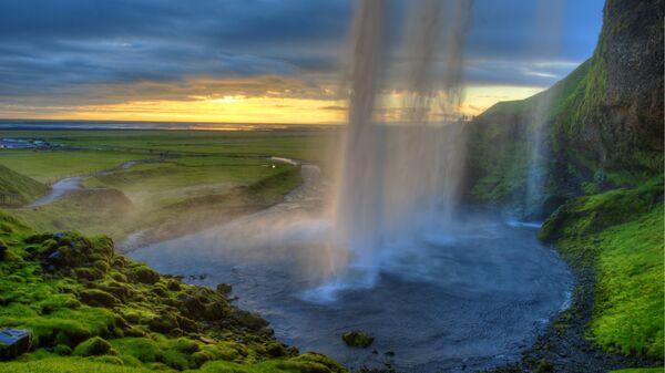 Водопад Сельяландсфосс в Исландии. Архивное фото