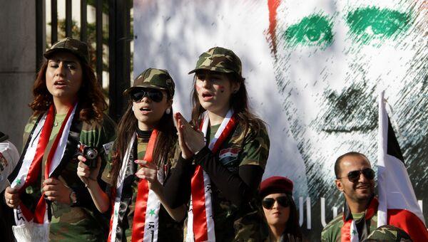 Граффити с изображением Башара Асада в Дамаске, Сирия