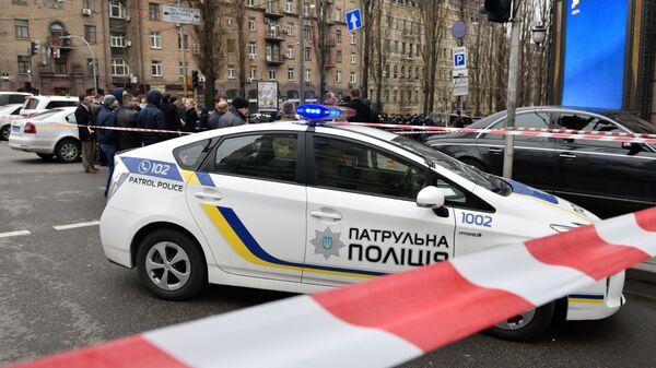 Полицейский автомобиль в Киеве. Архивное фото