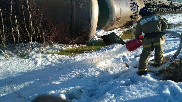 Ликвидация последствий столкновения поездов у поселка Учалы, Республика Башкортостан