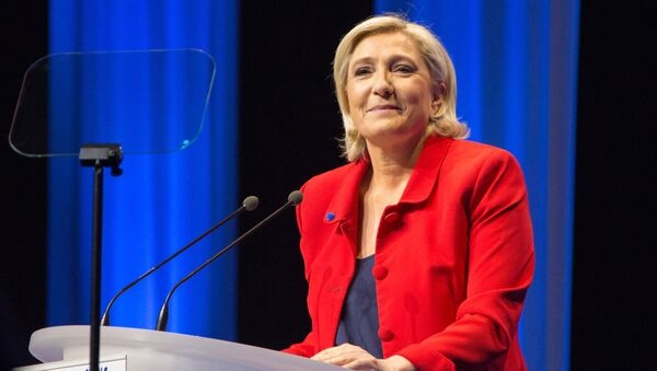 Лидер политической партии Франции Национальный фронт, кандидат в президенты Франции Марин Ле Пен. Архивное фото