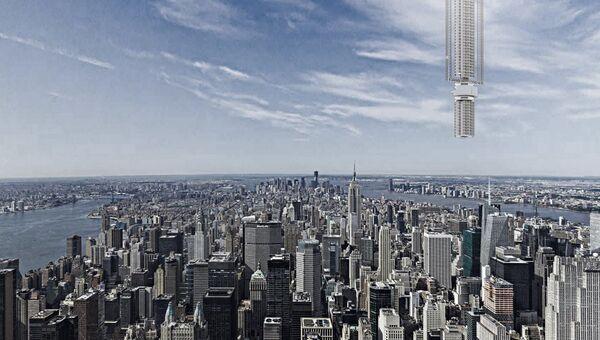 Дизайн башни-небоскреба конструкторского бюро Clouds Artchitecture Office