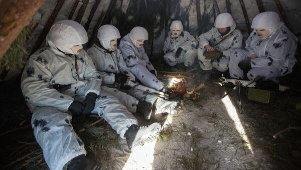 Курсанты роты арктических мотострелков. Архивное фото