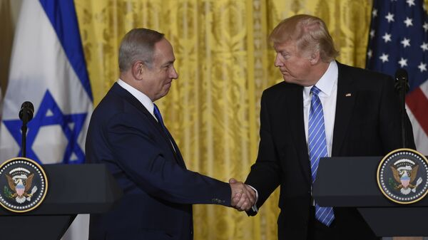 Премьер-министр Израиля Биньямин Нетаньяху и президент США Дональд Трамп
