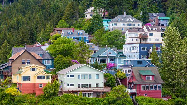 Цветные дома в Кетчикане, Аляска