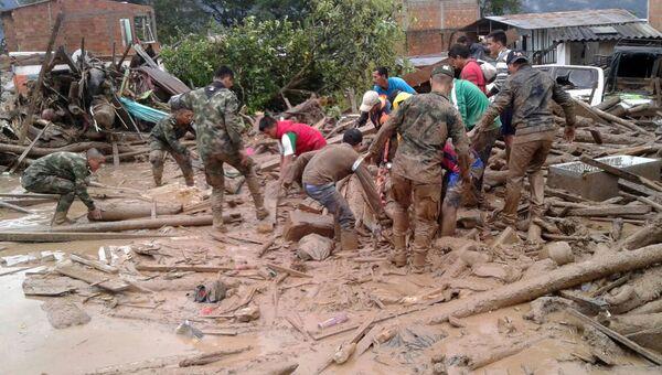 Сход селевого потока в Колумбии