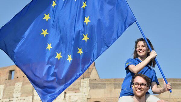 Митинг сторонников Евросоюза в Риме. Архивное фото