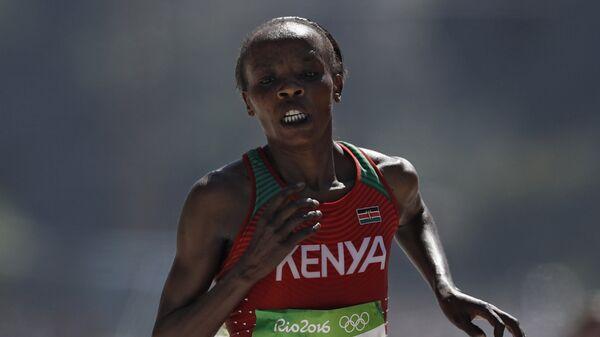 Кенийская бегунья Джемима Сумгонг на Олимпийских играх в Рио-деЖанейро. Архивное фото