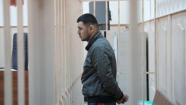 Подозреваемый в соучастии теракта в петербургском метро Содик Ортиков в Басманном районном суде Москвы. 7 апреля 2017
