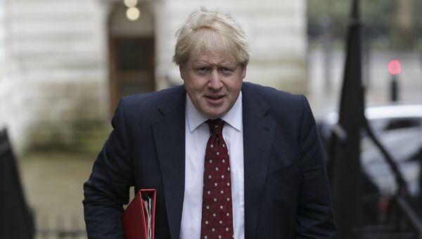 Министр иностранных дел Великобритании Борис Джонсон на Даунинг-стрит в Лондоне