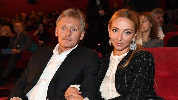 Заместитель руководителя администрации президента РФ – пресс-секретарь президента РФ Дмитрий Песков и его супруга Татьяна Навка
