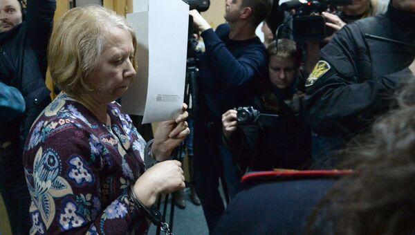 Руководитель телекомпании Регион 12 Наталия Кожанова в Басманном суде. 14 апреля 2017