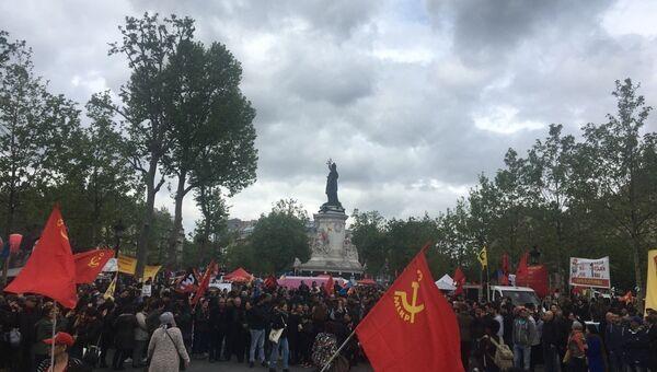 Первомайский митинг в Париже
