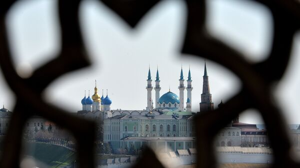 Казанский кремль со смотровой площадки Центра семьи Казан