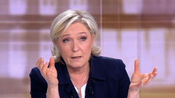 Лидер партии Национальный фронт Марин Ле Пен. Архивное фото