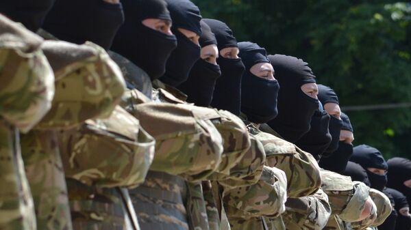 Бойцы батальона Азов приняли присягу в Киеве. 2014 год