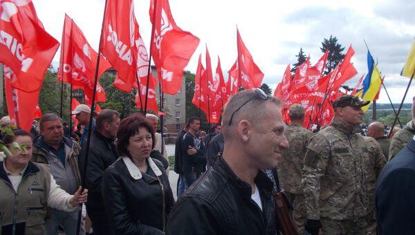 Группа Социалисты во время Дня Победы в Днепре