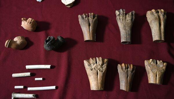 Показ уникальных археологических находок, обнаруженных в начале улицы Пречистенка в рамках благоустройства столицы по программе Моя улица
