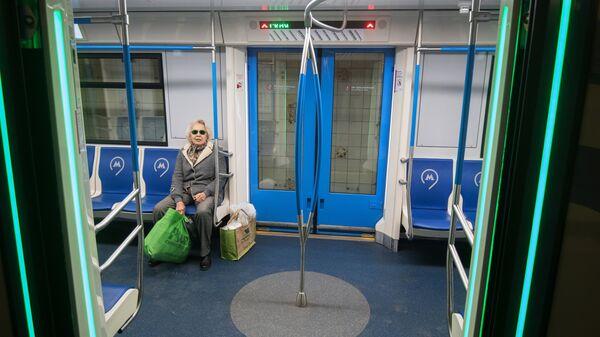 Поезд на Кольцевой линии Московского метрополитена