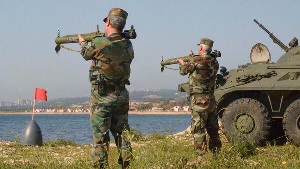 Военнослужащие во время российско-сирийских учений в Тартусе. Архивное фото