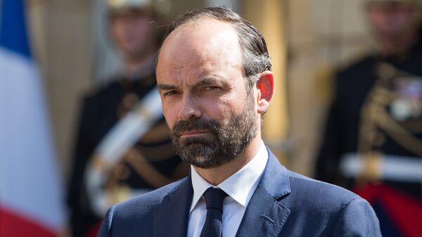 Новый премьер-министр Франции Эдуар Филипп на церемонии передачи полномочий в официальной резиденции премьер-министра Франции Hotel de Matingnon в Париже