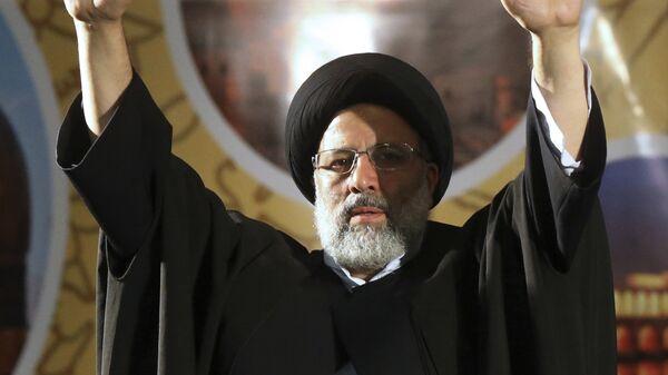 Кандидат в президенты Ирана Ибрахим Раиси в Тегеране. 16 мая 2017
