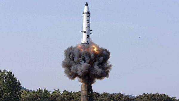 Пуск ракеты Пуккыксон-2 в Северной Корее