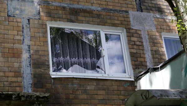Последствия обстрела в Куйбышевском районе Донецка
