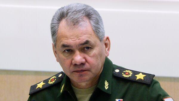 Министр обороны РФ Сергей Шойгу на заседании Совета Федерации РФ. Архивное фото