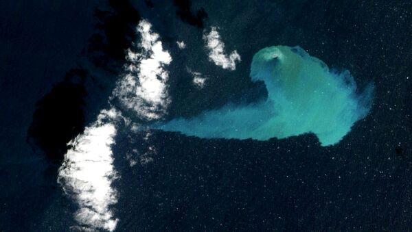 Подводное извержение вулкана Эль-Иерро