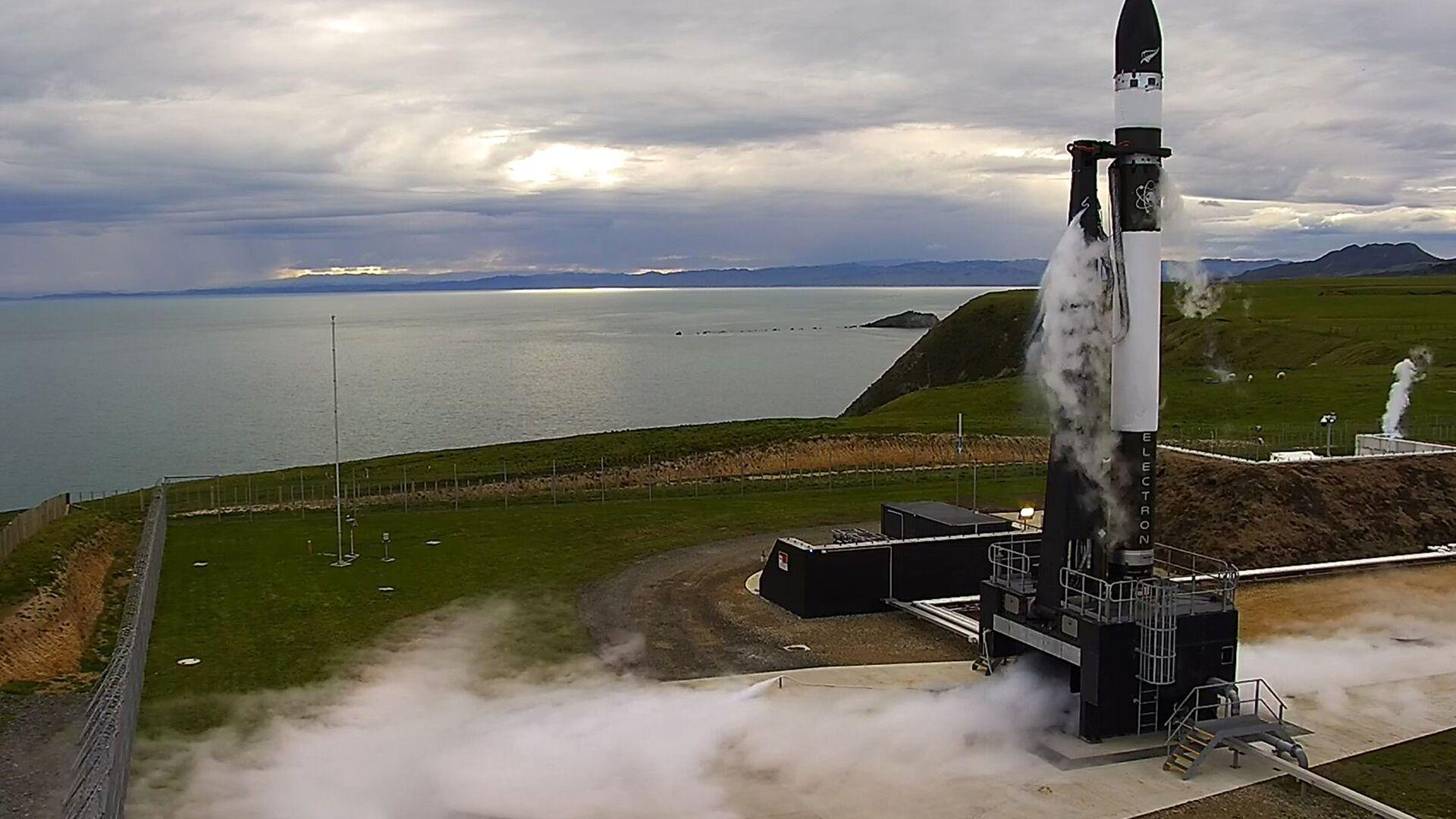 Запуск ракеты Электрон на стартовой площадки в Новой Зеландии, 25 мая 2017 - РИА Новости, 1920, 29.10.2020