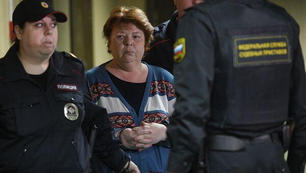 Бывший главный бухгалтер театральной труппы Седьмая студия Нина Масляева, задержанная после обысков в Гоголь-центре