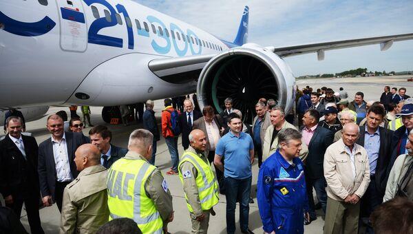 Новый российский пассажирский самолет МС-21 успешно совершил свой первый полет