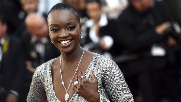 Модель из Танзании Мириам Одемба на красной дорожке церемонии закрытия 70-го Каннского международного кинофестиваля