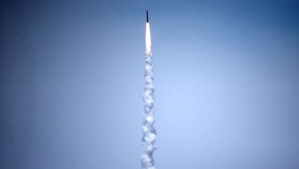 Испытания наземной системы противоракетной обороны (Ground-based Midcourse Defense, GMD) в Калифорнии. 30 мая 2017