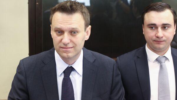 Рассмотрение по существу иска о защите чести и достоинства бизнесмена Алишера Усманова к Алексею Навальному. Архивное фото